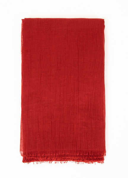 Foulard a bords francs rouge femme