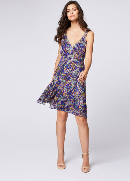 Robe cintree imprime abstrait multico femme